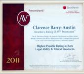Martindal-hubbell AV Preeminent Lawyer Award